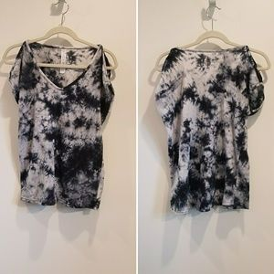 Balance Collection tie dye cold shoulder tee